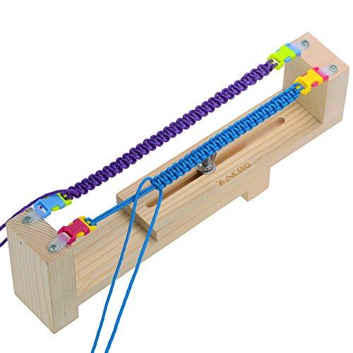 Zacro Jig Bracelet Maker with Parachute Cord, Wristband Maker - 6 parachute cords and 6 buckles - Paracord Braiding Weaving DIY Craft Tool Kit - Heavy Duty Buckles
