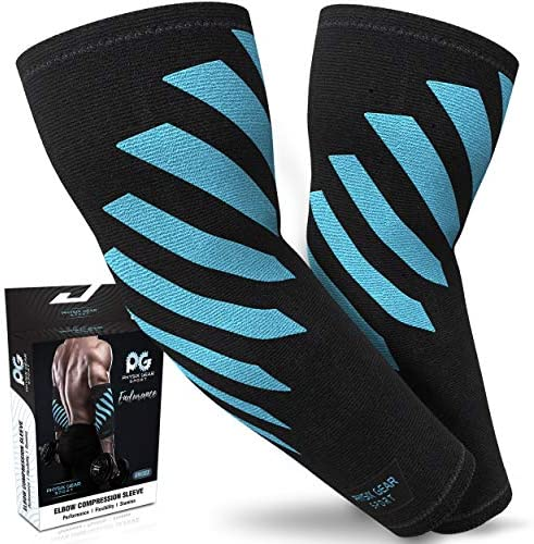 Physix Gear Sport Elbow Brace 2 Per Pack Double Stitched Unisex Neoprene Compression Sleeve product image