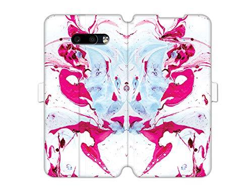 etuo Hülle für LG G8x ThinQ - Hülle Wallet Book Fantastic - Rosa Marmor Handyhülle Schutzhülle Etui Hülle Cover Tasche für Handy