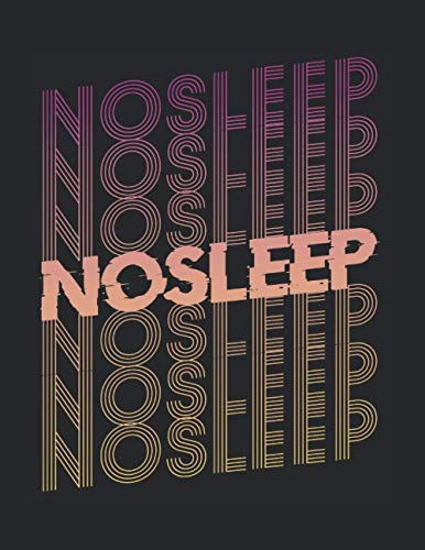 No Sleep Rave Festival EDM Techno Raven Musik Goa Party: A4+ Softcover 120 Beschreibbare Karierte Seiten | 22 X 28 Cm (8,5X11 Zoll)
