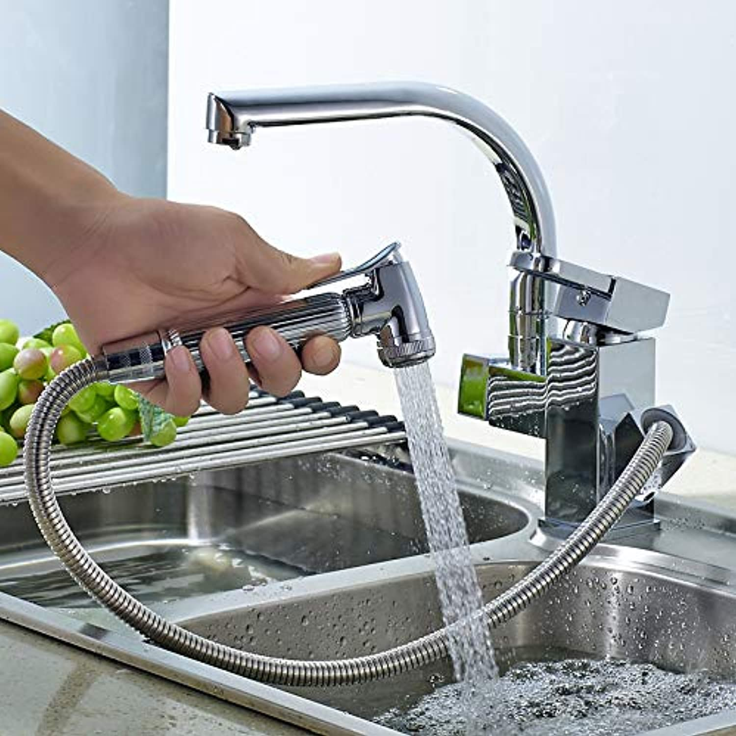 Bathroom Kitchen Pull-Type Faucet Hot and Cold Expansion