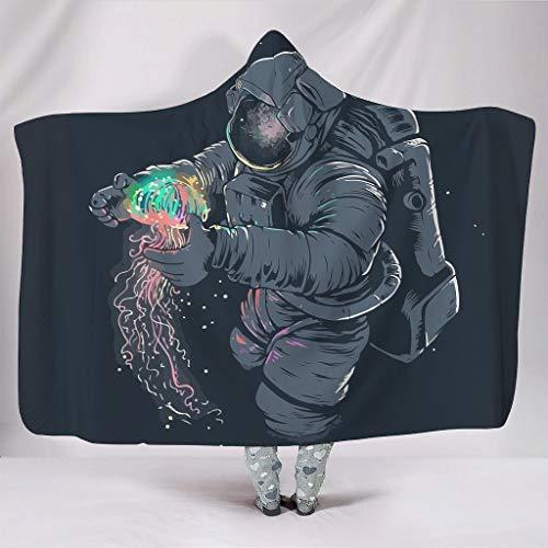 CUCIN NASA Space Jellyfish bedrukte jas met capuchon, warm cadeau voor familie en vrienden