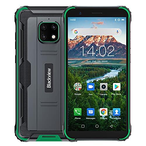 Blackview BV4900 Pro Rugged Smartphone | 5.7 Pulgadas 4GB RAM + 64GB ROM|Con Función Desbloqueo Facial 5580mAh | Android 10.0 | Impermeable | A Prueba Polvo | A Prueba de caídas | Dual SIM/NFC - Verde