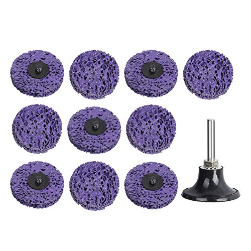 Schleifen Polieren Schleifscheibe Rollenschleifscheibe 10 Stück Schleifscheiben-Set 50mm mit Scheiben-Pad-Halter für Oberflächenbearbeitung oder Lackentfernung Polieren