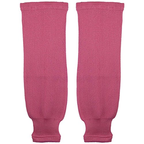 TronX SK80 Knit Ice Hockey Socks (Bubble Gum Pink 28 Inch)