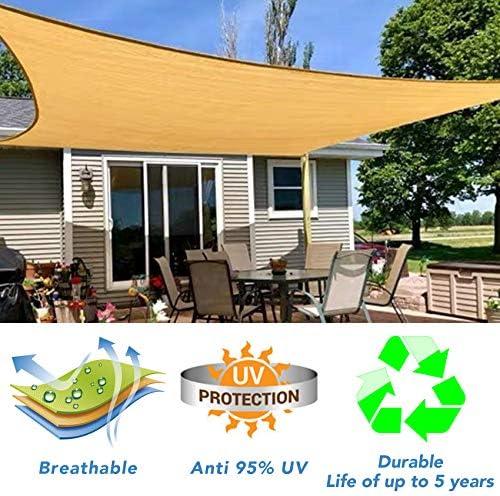 HORSE SECRET Sun Shade Sail Rectangle 6 x 10 UV Block Canopy Awning Solar Sunshade Cover for product image