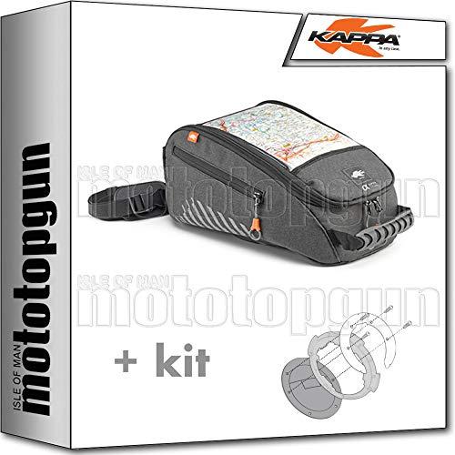 kappa bolsa sobredeposito ah213 9 lt tanklock + adaptador compatible con triumph tiger 900 2020 20