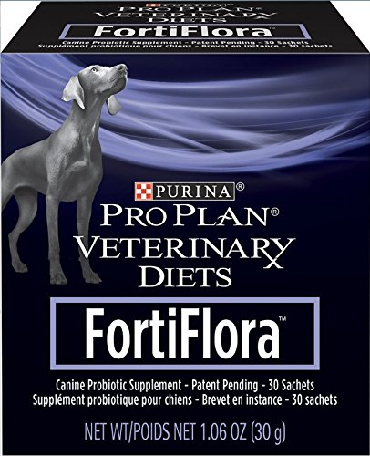 2 FortiFlora Veterinary Diets Probiotic Dog Food Nutritional Supplement Box - 60ct