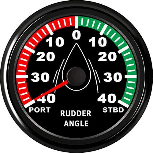ELING Guaranteed Rudder Angle Gauge Indicator 0-190ohm with Mating Sensor with Backlight 85mm 12V/24V