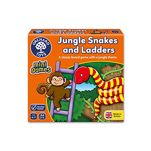 Orchard Toys Jungle Snakes and Ladders - Mini Juego