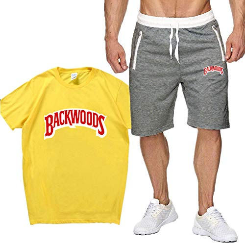 Camiseta De Verano Unisex Backwoods Moda Al Aire Libre Deportes De Ocio Traje De Manga Corta Camiseta De Ocio Unisex L