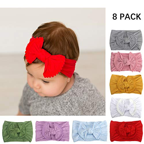 Baby Girl Headbands Toddler Cotton Knotted Newborn Headband Headwrap Bows Hair Accessories Best Gift for Baby