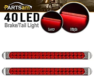"""Partsam Waterproof 17"""" Inch High Power 40 LED Red Utility Trailer Truck RV Stop Tail Turn 3rd Brake Marker Identification ..."""