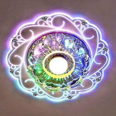 JJ LED moderna soffitto, 20 x 12 cm, Crystal Ceiling Lamp spotlight 3W LED SMD-Lampada, motivo: luce del tubo-Colore a colori Multi couleurs-220-240V
