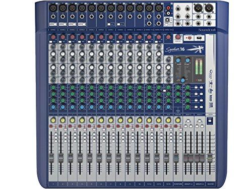 Soundcraft Signature 16Alto Rendimiento 16-input analógica de formato pequeño mezclador con efectos de placa