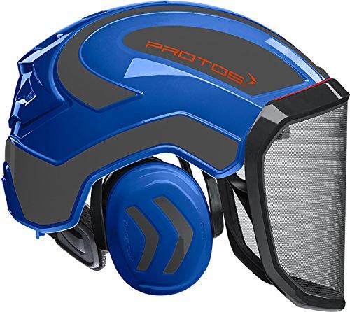 Protos Integral Unisex– Erwachsene Forest Forstschutz-Helm, Blau-Grau, 54-62cm
