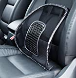 Big Ant Lendenkissen, Auto Mesh Rückenstütze mit Massageperlen für Komfort und Linderung von Rücken - Lordosenstütze Kissen für Autositz, Bürostuhl, Rollstuhl