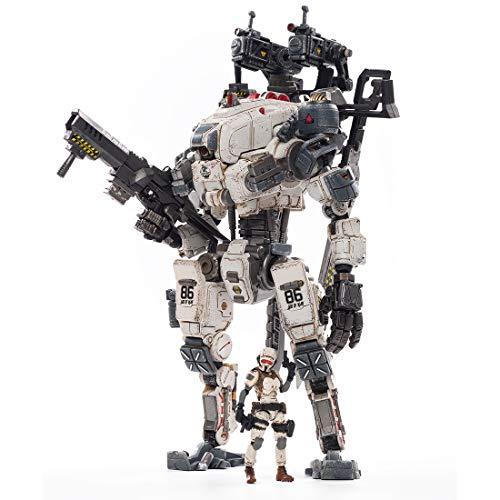 HMANE 1/25 Mecha Soldier Action Figure, God of War 86 White Anime Soldier Figure Mecha Model Military Soldier Action Figure Toys