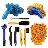 Fahrrad Reinigungsbürsten Set,Fahrradreinigungsbürstenwerkzeug,Bike Reinigungsbürste Tool,Fahrrad-Kettenreiniger-Werkzeug-Set ,Clean Brush Kit Reinigung Bürste Set