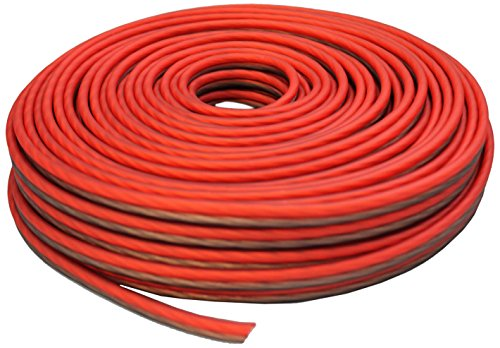 Absolute USA SWS12R50 Professional Premium Speaker Wire 12 Ga 50ft - Clear Red/Brown