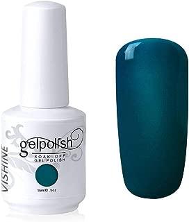 Vishine Soak-Off UV LED Gel Polish Nail Art Manicure Lacquer Teal Color 036