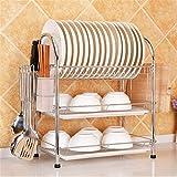 Madeinely Escurreplatos de cocina con 3 niveles - Estantería para vajilla de...