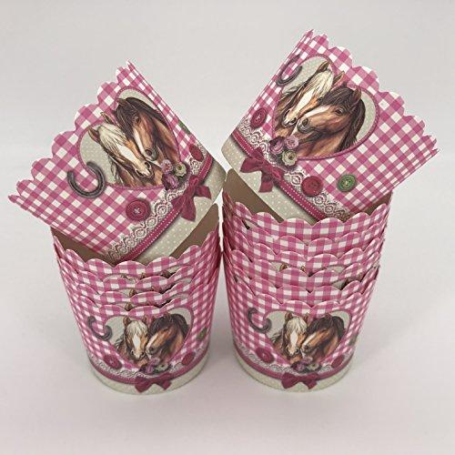 Unbekannt 12 Muffinförmchen * Pferdefreunde * für Kindergeburtstag und Mottoparty von Städter // Muffin Muffins Kinder Papier Cupcake Backformen Pferde Pony