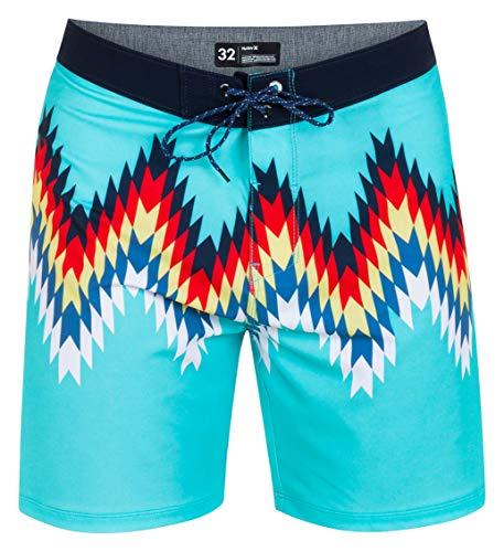 Hurley Mens M Phtm Outsider 18' Board Shorts, Aurora Green, 36