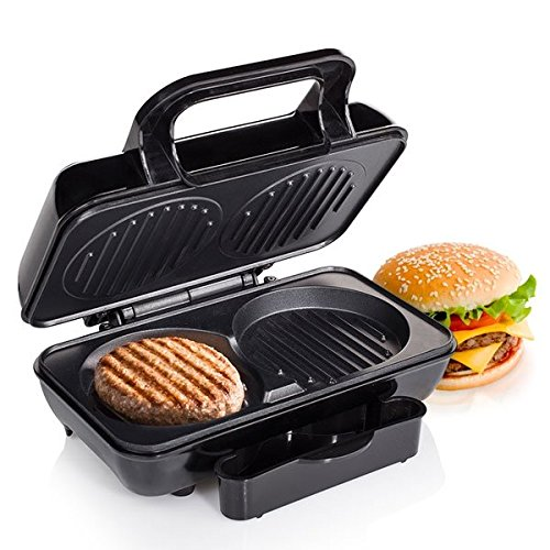 Parrilla para hamburguesas Tristar GR-2843 – recubrimiento antiadherente – Se puede hacer dos a la vez