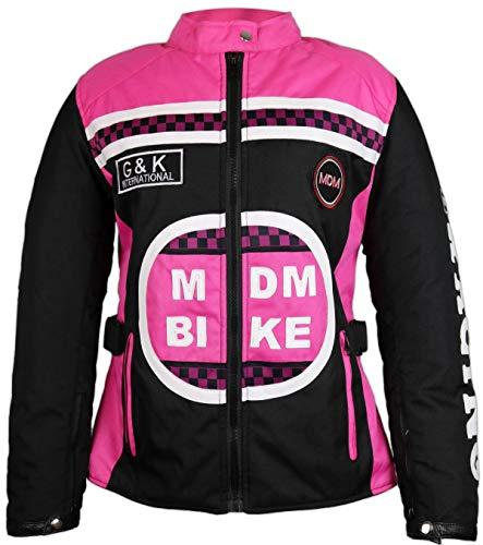 MDM Damen Jacke mit Protektoren in Pink (3XL)