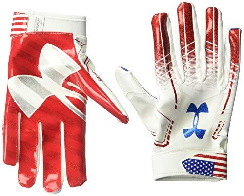 Under Armour Men's F6 Novelty Gloves, White//Midnight Navy, Medium