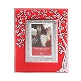 Cornice rossa albero della vita con argento Miro Silver, per foto da 6x9 cm Rosso