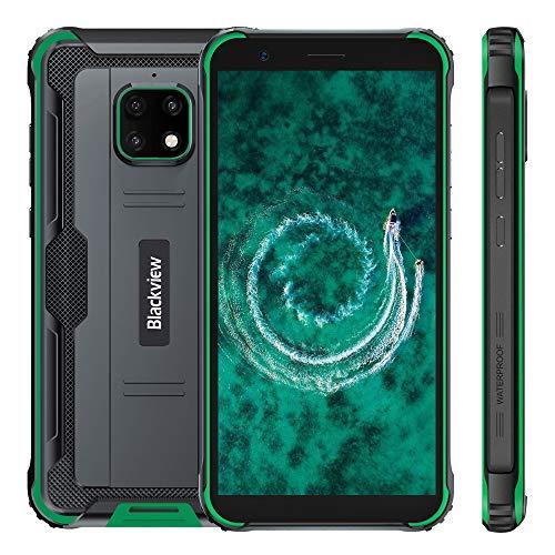 Blackview BV4900 Outdoor Smartphone Ohne Vertrag, IP68 Android 10 Handy Smartphone, 5580mAh Akku, 3GB +32GB, 5.7 Zoll HD+ Display, 8MP + 5MP wasserdichte Kamera, Dual SIM, GPS, NFC, Grün