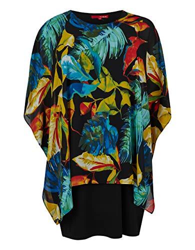 THEA by Adler Mode Damen TH 05-20 Kleid schwarz/rot/gelb/grün/blau 56