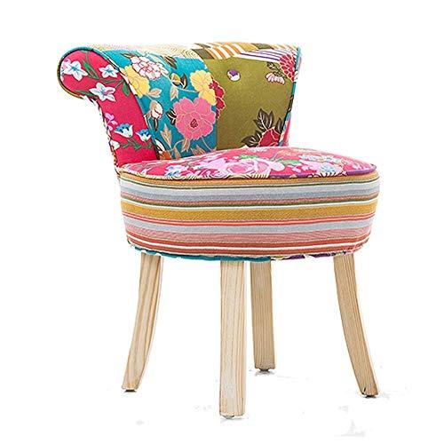 H-Schminktische Kosmetiktisch Arm Chair/Dressing Stühle Und Hocker/Makeup Hocker/Barock Klavier Stuhl/Gepolsterte Sitzbank Stuhl, Massivholz Beine/Polster, for Ankleidezimmer/Wohnzimmer /