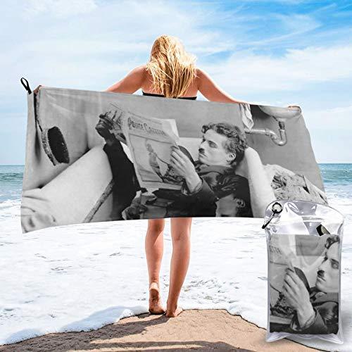 JJKKFG-H Charlie Chaplin Toalla de secado rápido, ligera, para toallas de baño suaves para piscina, natación, viajes, silla de playa 27.5' X55