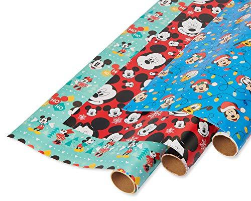 American Greetings Geschenkpapier, Mickey Mouse (3 Rollen, 105 m²) Rnbwstripe St...