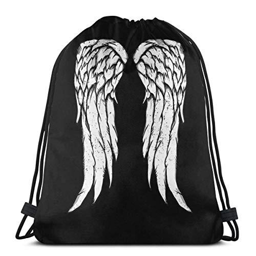 Daryl Dixon Wings Zombie Drawstring Bag Sport Fitn Bag Borsa da Viaggio Borsa Regalo