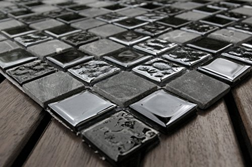 Acciaio. Vetro mosaico–Pietra Naturale–Mix, marmo mosaico piastrelle mosaico piastrelle 2,5cm x 2,5cm