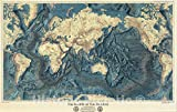 Historic Pictoric Wall Map, World - Ocean...