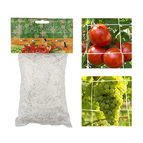 Dsaren Filet d'escalade pour Plantes Polyester Filet Treillis Jardin Filet Plante Grimpante pour Concombres, Tomates, Vigne, Fruit, Fleurs et Légumes (5.5x33ft)