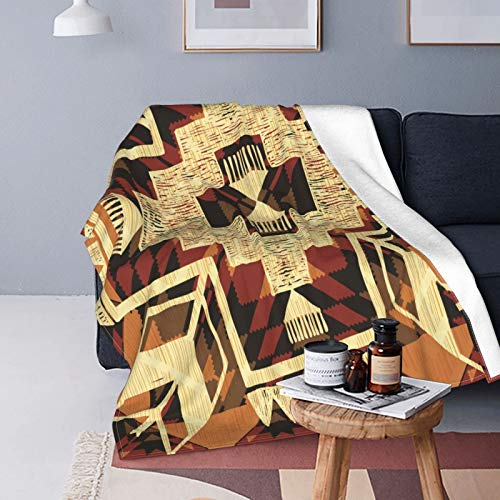 Ultra-Soft Micro Fleece Blanket,Arrow Decor Duvet Cover Set, Native American Inspired Retro Aztec Pattern Mod Graphic Design Boho Art,Home Decor Warm Throw Blanket for Couch Bed,50