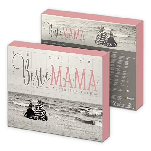 itenga Adventskalender 2020 Beste Mama I aus Karton zum Aufhängen I gefüllt I 24 Überraschungen I Perfekter Begleiter während der Vorweihnachtszeit