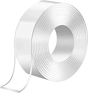 Vixzero 3 Meter Magic Improvement Double Sided Tape mounting Transparent Trace less Acrylic Reuse washable Waterproof Adhe...