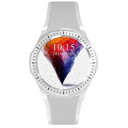 domino dm368 3g smartwatch FensAide Orologio Portatile con GPS Integrato 3G WiFi Bluetooth frequenza cardiaca Impermeabile Tracker Fitness Orologio da Polso Telefono per Android OS Uomini e Donne (Nero)