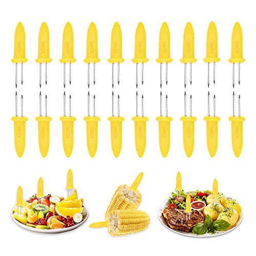 KDWL Corn on The Cob Holders,20PCS Stainless Steel Corn Cob Holders, Corn Holders Set for Home Party BBQ,Come with Storage Box for Safe Storage Corn Skewers