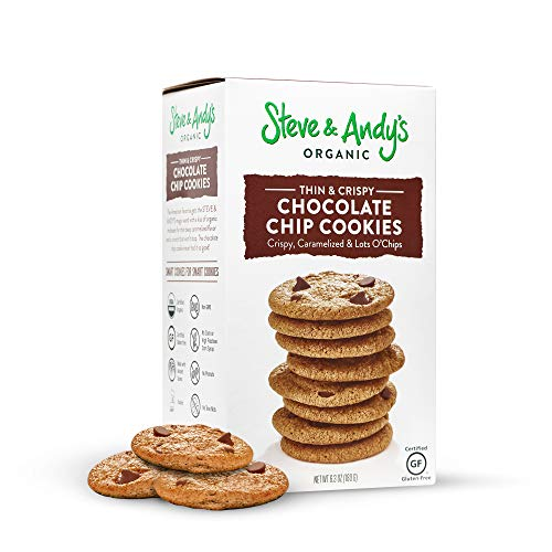 Crispy and Crunchy All-Natural Chocolate Chip Cookies, Gluten Free Cookies for Dessert, No Corn Syrup, No Tree Nuts, Kosher, and Non Gmo (Pack of 1) - Steve and Andy's