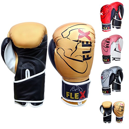 FLEX - Guantes de boxeo de carbono para Muay Thai, para entrenamiento...