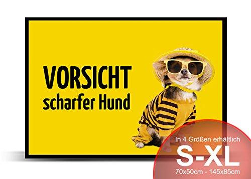 Printalio - Hund - Schmutzmatte Bodenvorleger Fussmatte Türmatte Abtreter Abstreifer gummierter Rand rutschfest waschbar individuell | 70 cm x 50 cm