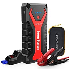 【SUPER POWERFUL & COMPACT】This compact (7.5*3.4*1.4-inch) & lightweight (1.35pounds), yet powerful 2000A peak output jump starter has no problem starting most vehicles with gas engines up to 8.0L or diesels engines up to 6.5L. 【HIGH-SPEED CHARGING PO...